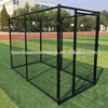 1.8mH powder coated anti-rust black welded large dog kennels