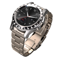 2015 Men Style Round Stainless steel Bluetooth android smart watch T2