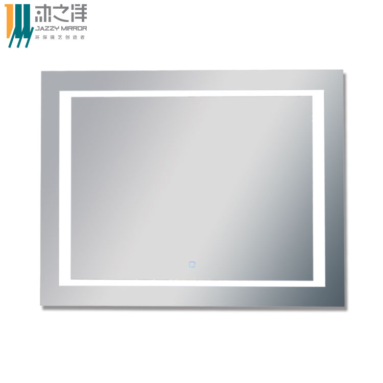 Customized bathroom Illuminated Mirrors UL and ETL listed 5mm clear hospitality grade polished edged wall mounting eco-mirror