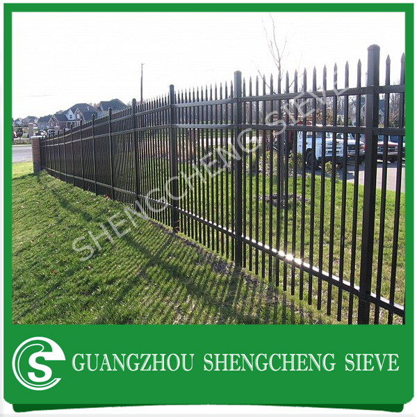 Color avaliable tubular fencing steel panels fence