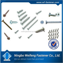 China manufacturers supplier good quality zinc plated best sales low price din 7504 hex washer head self drilling screw