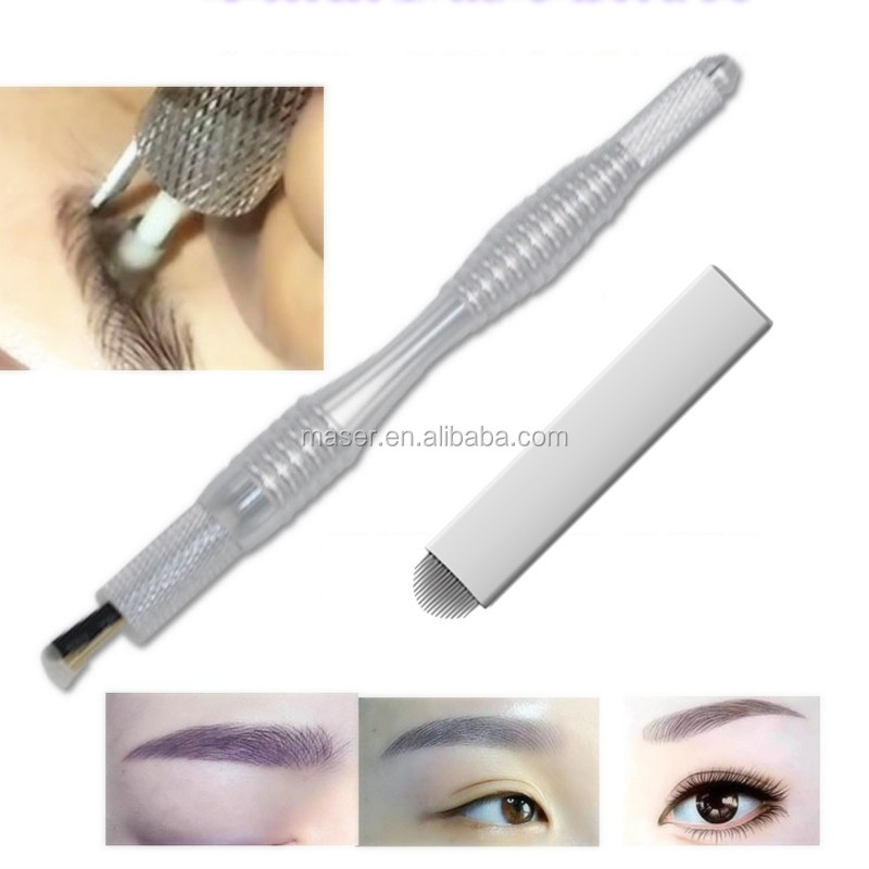 2017 Newest Popular Permanent Makeup Microblading Pen with Shading Micro blades Needle