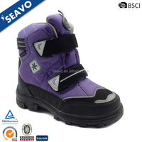 SEAVO 2017 cheap warm juniors purple cute waterproof winter snow boots