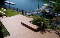 cheap composite decking material cover floor for outdoor patio