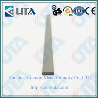 Low price tungsten carbide flat / cemented carbide flat For Work Rest Blades