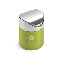 1.5L mini desktop bin/swing top waste bin