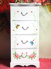 white wood hand painted chest of drawers