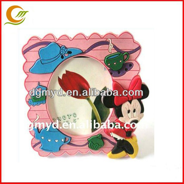 Funny mickey mouse photo frame Soft PVC photo frame