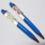 Sand clock floater pens sand glass ballpoint pens Cheap liquid pen with hourglass floater inside 10 colors available
