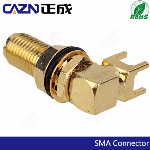 21mm SMA Right angle Through Hole PCB Jack female Connector