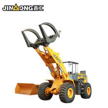 clamp log loader JGM757K wheel loader grapple forks automatic loader