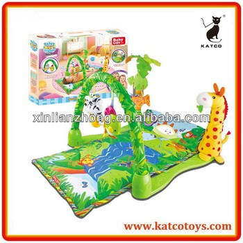 Hot Sale Baby's Friends Rainforest Musical gym Multi-function Play Mat for Baby