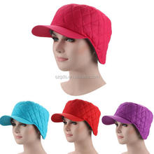 2017 Winter Thickening wram peaked cap with brim Unisex Cap Hat various colors