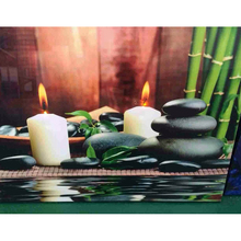 Hot selling led lighted buddha canvas wall art picture,led canvas stone picture
