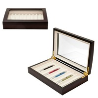 Fountain Pen Collector Organizer Box And 0 Piece Wood Pen Display Case