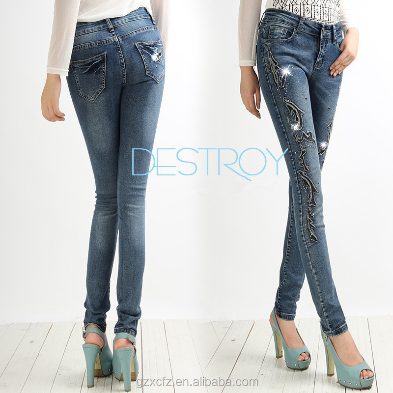 Cool Ladies Jeans Top Design With Cheap Jeans Pants Price ...