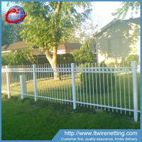 Professional manufacturer supply painting wrought iron fence,cheap wrought iron fence supplier
