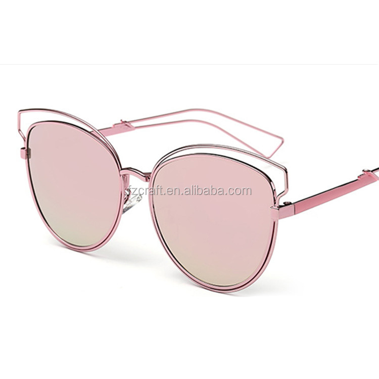 Contain Rose Gold 2016 New Luxury Alloy Cat Eye Sunglasses Cosy Shades Men Women Brand Designer Eyewear Sun Glasses Oculos