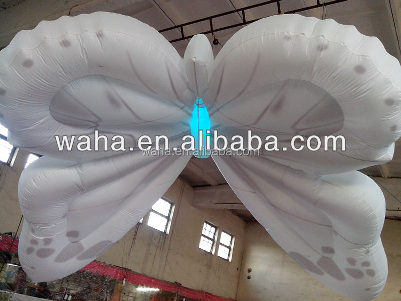 Inflatable led light butterfly