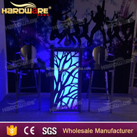 led light glass top bar table nigh club changing color led party bar table