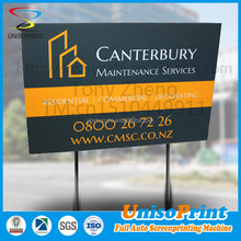 Custom corrugated plastic sign, printing plastic yard sign stakes