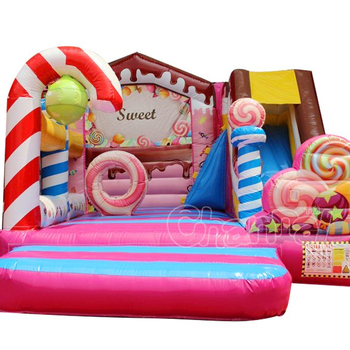 Sweet Candy  inflatable bounce house, jump house inflatable bounce castle Inflatable Bouncy Combo cheap bounce houses