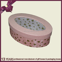Oval shape kraft hard paper gift box for hot sale