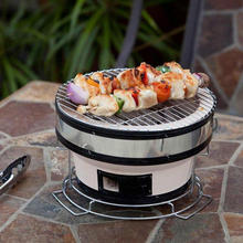 Ceramic charcoal Type korean restaurant table top bbq grill