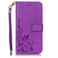 Leather Single Side Embossing Case Covers for iPhone 7 Plus