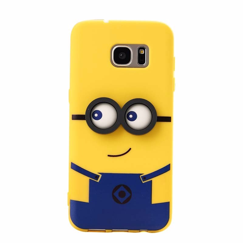 oem silicone 3d cartoon phone cover case for samsung galaxy s6 edge plus