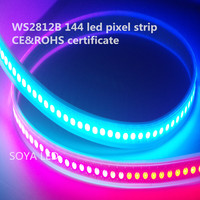 ws2812b 144 pixels rgb addressable LED pixel tape strip 1m/ roll