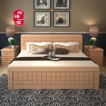 high quality home furniture king size solid wood bed frame with cheap price mattress