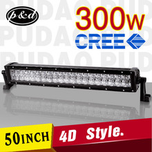 2015 new cre e 300w 4D reflector double row 50 inch led light bar