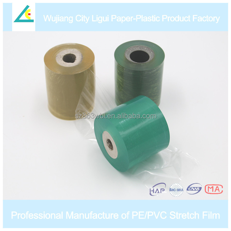 LG12 Transparent plastic wrapping pvc stretch film for wire and cable