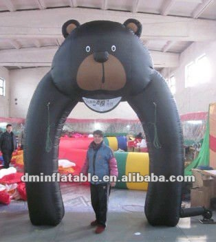 new hot sale advertisement inflatable black bear arch&tent