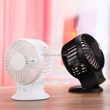 Electric Dual Motor Two Blade Rechargeable Battery Portable Desk Mini Fan USB