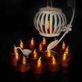 24 Pieces Brown base Battery-Powered Flameless Candles, Flickering Led Tea Lights Candle for Birthday Wedding Party