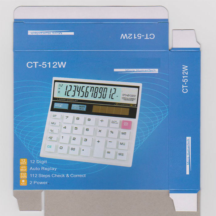 auto check calculator CT-512 White calculator cheapest with great quality