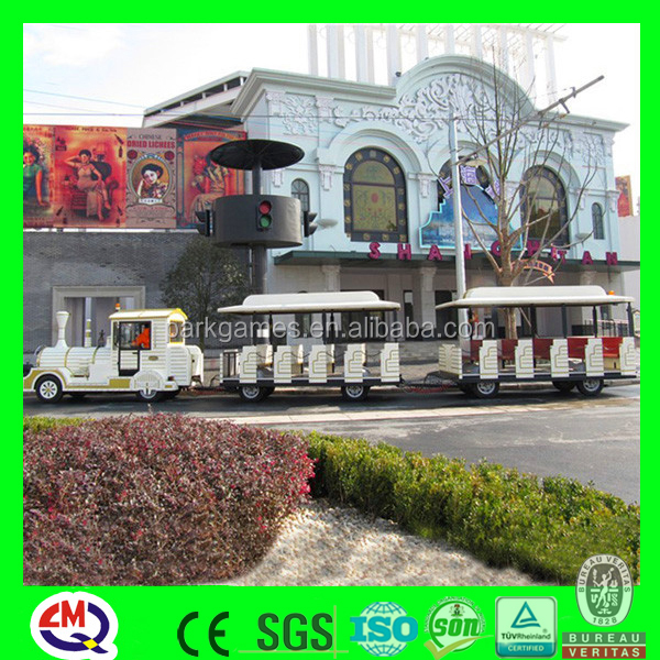 Fun park tourist electric train set for adults
