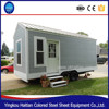 European style easily installation sandwich steel low price prefabricated container house with tailer