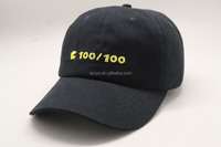100% Cotton Material and Embroidered Pattern fashion baseball cap custom
