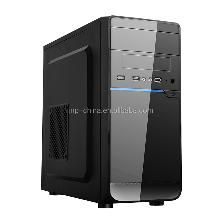 Cheap Micro ATX case office computer PC case with 3 USB and card reader