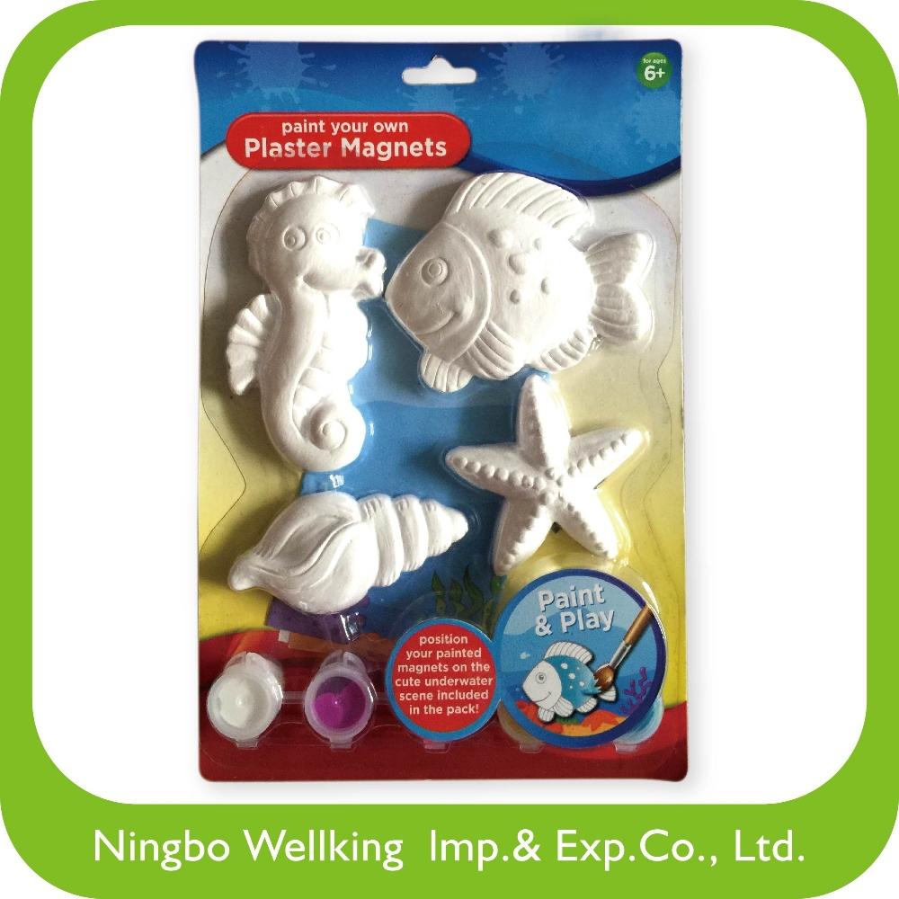 Craft plaster magnets paint set for kids diy buy paint for Where to buy magnets for crafts