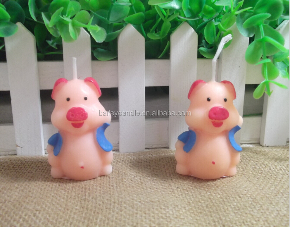 Funny Pig Candles Favors For Baby Shower and Birthday Party Gift Candles