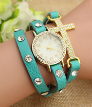 Hottest Promotional Fashion Woman Ladies Leather Watches Leather Lady Watch