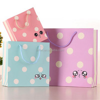 China Factory produce OEM Fashionable shopping paper bag wholesale customise paper gift bag