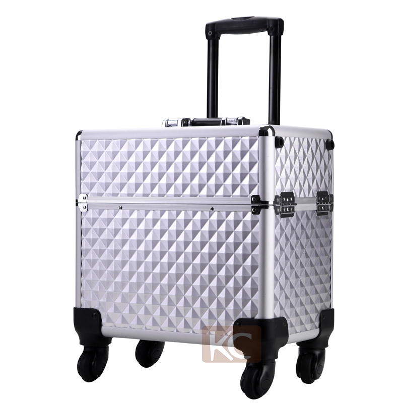 Professional hair organizer for barbers, hairdressing trolley case cosmetic equipment boxes