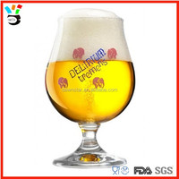 8 oz. customized logo stemmed brewery beer tasting glass