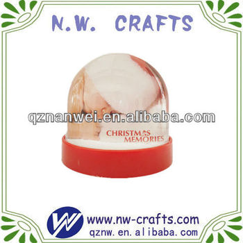 Custom lovey baby plastic photo water ball