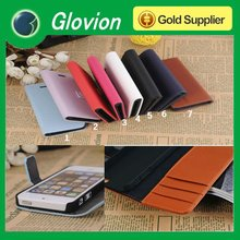 Hot sale case for iphone5 leather case for iphone5 credit card slots case for iphone5
